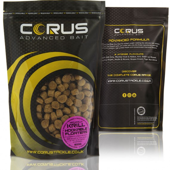 Corus Hookable krill Floaters 600g