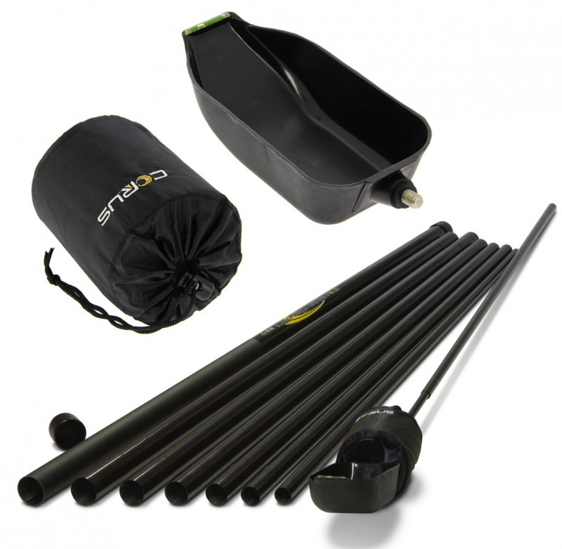 NEW Corus 12m Long Reach Baiting Pole. Includes Float And Spoon