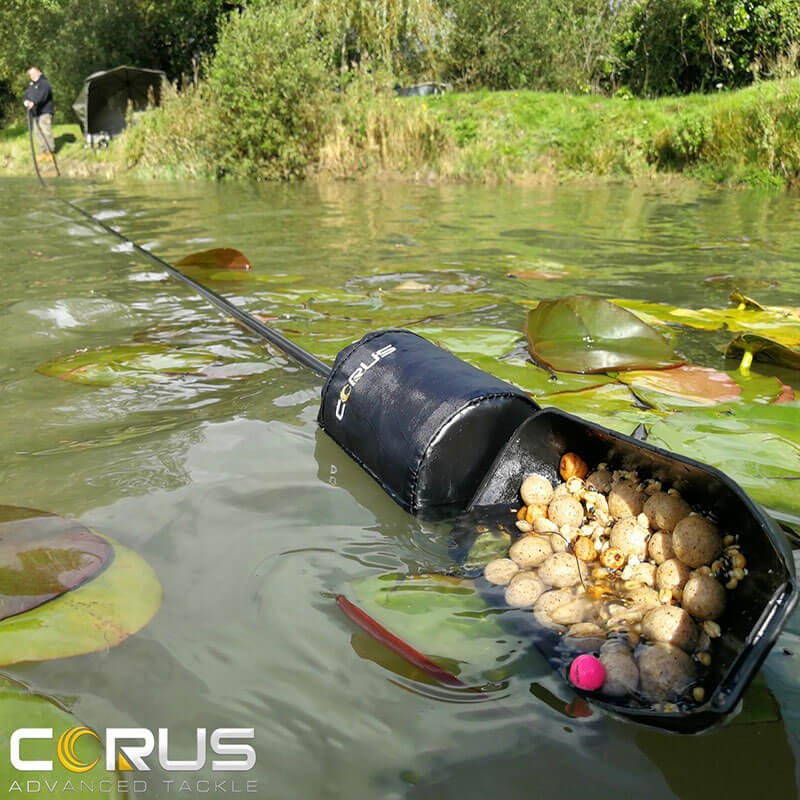 Corus 18m Long Reach Baiting Pole. Includes Float And Spoon