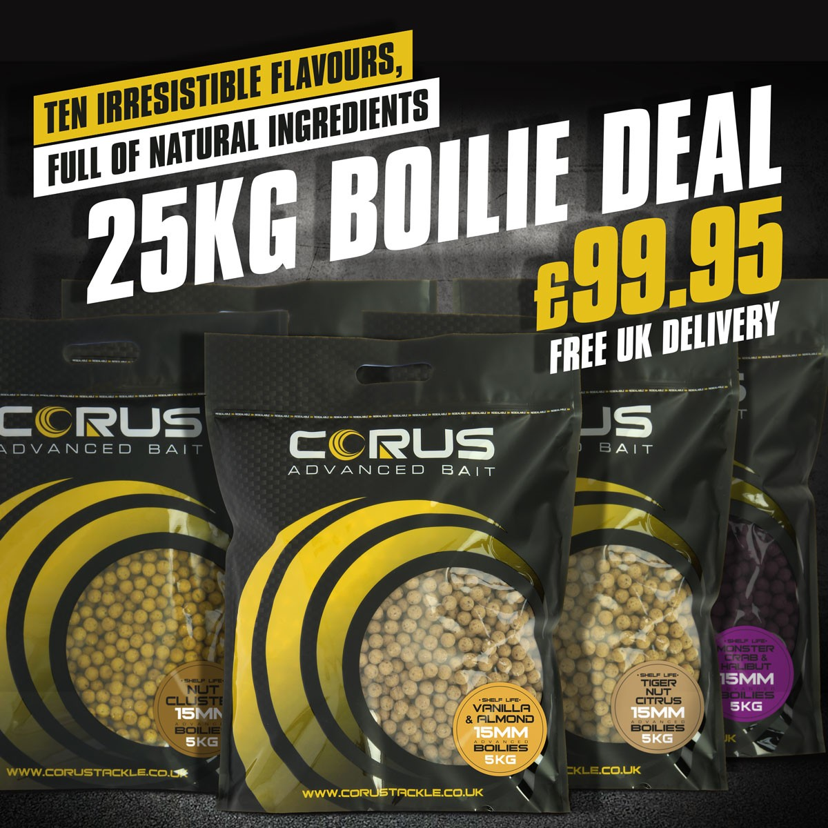 25kg Mega Mix & Match Boilie Deal